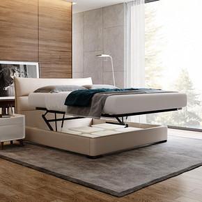 芝华仕爱蒙意式现代简约轻奢免洗布艺床双人床主卧卧室家具C030 4799元