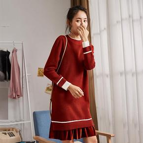Tonlion 唐狮 123427104713 女士针织连衣裙 低至109.2元(3件8折) ¥109