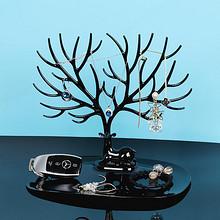 创意鹿角摆件首饰收纳盒耳环钉展示架子饰品树挂钥匙女家用整理台 4.9元