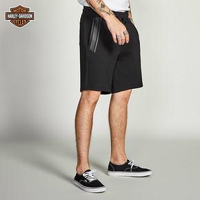 ¥144.5包邮 Harley-Davidson哈雷戴维森2019夏新男士抽绳休闲短裤运动裤宽松