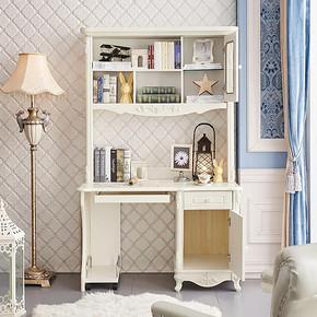预售法丽莎欧式书桌柜多功能储物电脑桌连体直角组合柜写字台G2 1369元