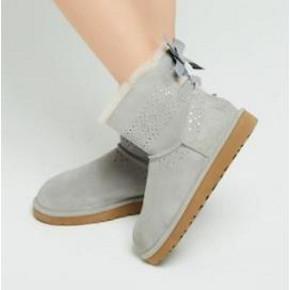 ¥519 UGG 女士平底蝴蝶结雪地靴1019197