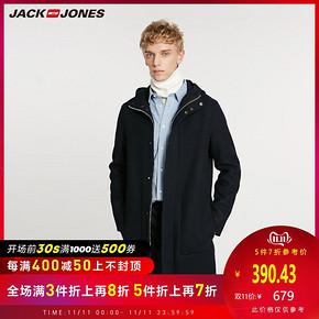 双11预告: JACK JONES 杰克琼斯 218427505 男士毛呢大衣 低至391元(双重优惠)