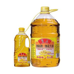 鲁花 一级花生油5.436L赠900ML 5S物理压榨健康 食用油桶装油 159.9元