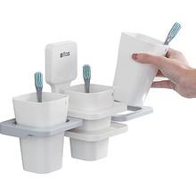 洗漱口杯套装卫生间牙刷架简约牙缸置物牙膏家用刷牙杯子一家三口 8.9元