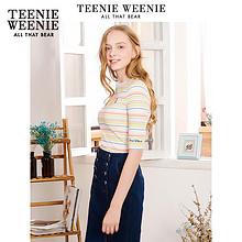 TeenieWeenie小熊女装夏季体恤五分短袖T恤纯色韩版宽松时尚上衣 119元