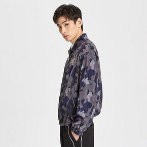 MECITY男装2019春季新款时尚字母印花运动迷彩夹克休闲外套 199元