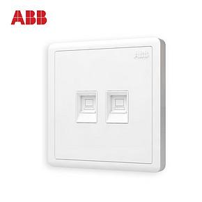 ABB开关插座远致白墙壁插座面板双电脑插座AO332 *2件 65.4元(需用券,合32.7
