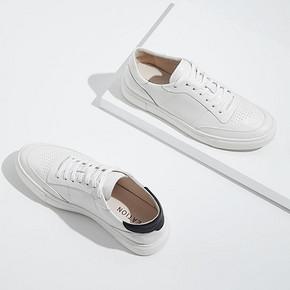 网易严选2019新款春款男士经典小白鞋白色休闲透气运动板鞋鞋子夏 247元