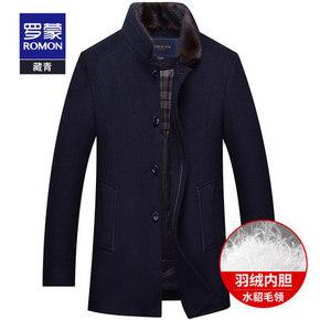 ¥399 罗蒙 DY18HF12692 男士加厚羊毛呢大衣