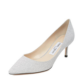 Jimmy Choo/周仰杰 Romy经典款银色闪粉女士女士高跟鞋单鞋婚鞋 3060元
