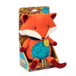 历史低价、再降价:B.Toys 比乐 会说话的小狐狸 毛绒玩具 64.5元包邮(需用