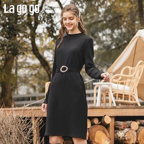 12日0点:Lagogo 拉勾勾 ICLL739B21 中长款针织连衣裙 低至114元 ¥114