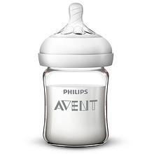 飞利浦新安怡玻璃奶瓶 单个装宽口径防胀气125ml防扁塌奶嘴 63.2元