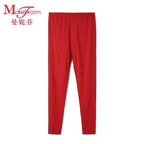 曼妮芬男士本命年保暖裤纯色中腰修身色拉姆舒适保暖20220909 99元