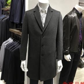 90%羊毛+10%羊绒!卡西罗帝 男士秋冬中长款羊绒大衣 售价480元 淘金币可抵扣