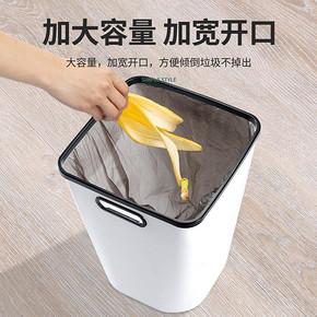 奇邦 黑色垃圾桶 小号 8L 3.8元