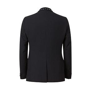 MECITY男装冬季领子铆钉装饰晚宴商务修身西装外套男帅气 149元