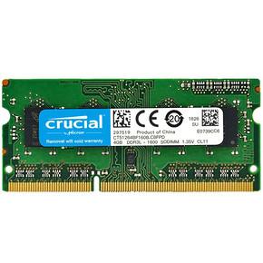 crucial 英睿达 DDR3L 1600 4GB 笔记本内存 75元