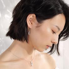 johnsongem 铃兰系列 925纯银 花朵款珍珠耳坠 57元