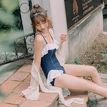 甜美日系泳衣女2019夏新款遮肚显瘦小胸钢托聚拢连体性感三角泳衣 59元