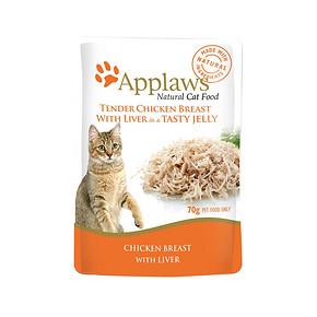 ¥94.05包邮 88VIP:APPLAWS爱普士 宠物零食肉冻猫餐包 70g/包 *10件