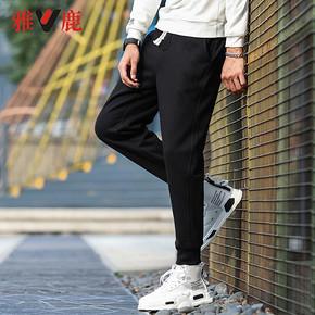 雅鹿 Y716191C958-1 男士加绒休闲卫裤 65.94元