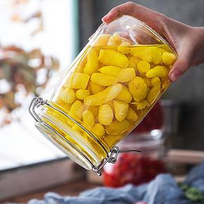 ¥6.3 夸克玻璃密封罐方形500ml