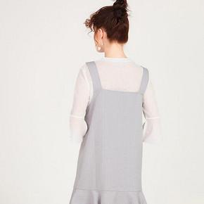 CacheCache秋款潮流背带裙韩版宽松荷叶边短裙个性两件式连衣裙女 41.3元