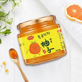 琼皇蜂蜜柚子茶冲饮料罐装果味茶500g泡水喝的饮品果酱奶茶店原料 *2件 18.9