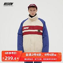 ¥299.4 VIISHOW YC2196194 男士立领羽绒服