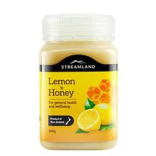 Streamland新溪岛新西兰进口柠檬百香果蜂蜜500g天然纯正野生蜂蜜 98元