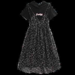 韩都衣舍 LZ8583 假两件连衣裙 低至61.7元 ¥106