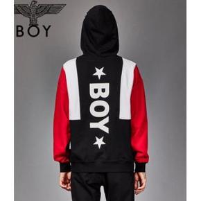 【优惠促销】Boy London 英版 复古红黑印花连帽卫衣 到手价539