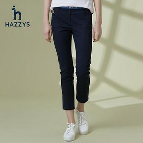 ¥1032 Hazzys哈吉斯ATDSP09AP05修身显休闲长裤女