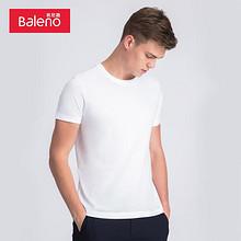 Baleno 班尼路 88502215 男士短袖T恤 白色 XXXL码 17.9元
