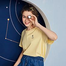 puella多色短袖T恤女装宽松2019夏季新款学生韩版上衣打底衫ins潮 *3件 237.6元