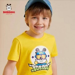 天猫 30日10点:BoBDoG 巴布豆 儿童短袖短裤套装 49.95元