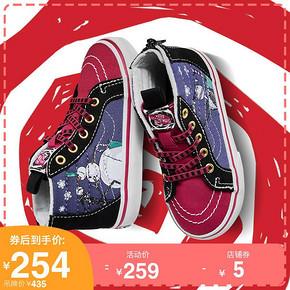Vans范斯童鞋 小童SK8-Hi帆布鞋 高帮圣诞夜惊魂联名款官方正品 259元