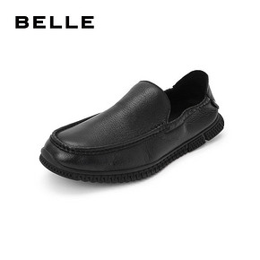 BELLE/百丽豆豆鞋2019夏商场同款牛皮革男皮鞋32919BM9O 369元