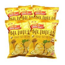 韩国进口 海太蜂蜜黄油薯片60g*5袋土豆片休闲零食品膨化小吃特产 64.9元