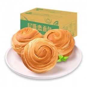天猫 6号11点:Q松 早餐食品 手撕面包1500g 19.9元包邮(折合6.66元/斤)