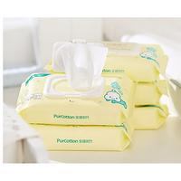 1日0点、61预告:PurCotton 全棉时代 婴儿带盖湿巾 80片*8包 147元包邮