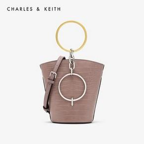 1日0点、61预告:CHARLES&KEITH CK2-10671031 女士圆环手提单肩水桶包 *2件 376.68元