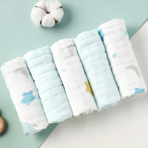 gb 好孩子 婴儿纱布方巾 30*30cm 5条装 19.9元包邮(需用券)