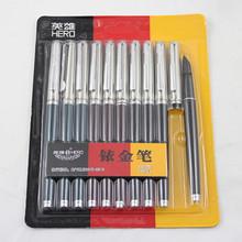 英雄钢笔007暗尖小学生用钢笔硬笔书法练字文具 特细 老式送笔尖 18.9元