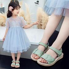 小女孩凉鞋2020夏季新款女童鞋子潮简约平底儿童软底公主沙滩鞋夏 39.9元