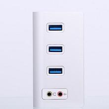 阿卡西斯 HS0047 USB3.0hub分线器 集线器外置声卡独立外接音频口 69元