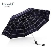Kobold全自动雨伞男士自开自收晴雨两用伞三折折叠伞男士折叠伞 *2件 458元(
