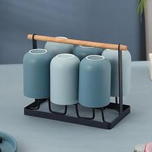 陶瓷杯带把耐热简约冷水具客厅喝水杯家用泡茶杯子六只装茶杯套装 13.8元